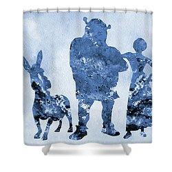 Shrek Blue Shower Curtain