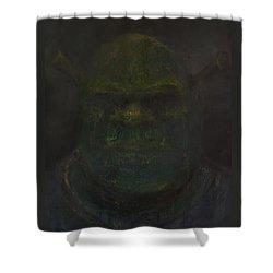 Shrek Shower Curtain by Antonio Ortiz