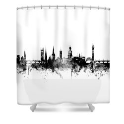 Shrewsbury England Skyline Shower Curtain