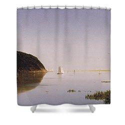 Shrewsbury River - New Jersey Shower Curtain by John Frederick Kensett