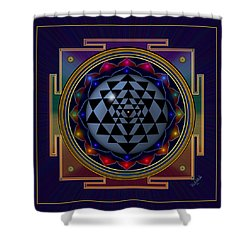 Shri Yantra Shower Curtain