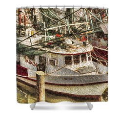 Shrimp Boat Lucky Lady Shower Curtain