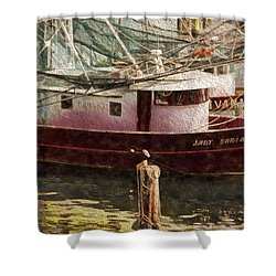Shrimp Boat Sariah Shower Curtain