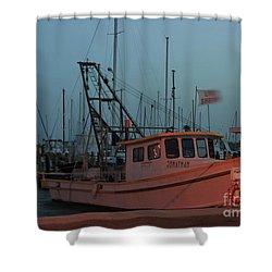 Shrimp Boat Shower Curtain