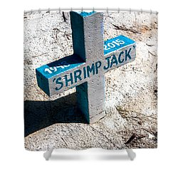 Shower Curtain featuring the photograph Shrimp Jack by Lawrence Burry