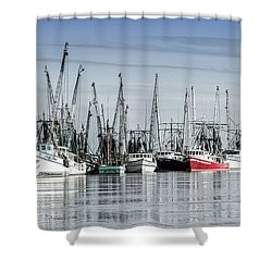 Shrimper's Day Is Done Shower Curtain