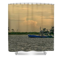 Shrimpin Shower Curtain