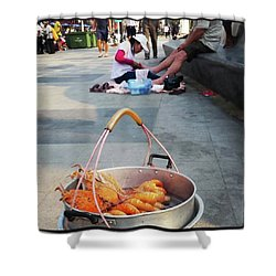 Shower Curtain featuring the photograph Shrimping And Crabbing On The by Mr Photojimsf