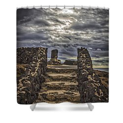 Shower Curtain featuring the photograph Shrine To Drowned Fishermen by Mitch Shindelbower