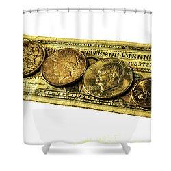 Shrinking Dollars Shower Curtain