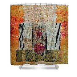 Shroud 2 Collage Shower Curtain