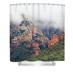 Shower Curtain featuring the photograph Shrouded In Clouds by Phyllis Denton
