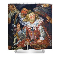 Shrovetide Revellers The Merry Company Shower Curtain