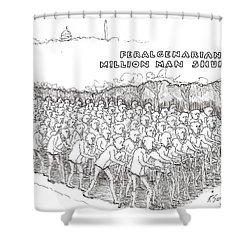 Shuffle Shower Curtain