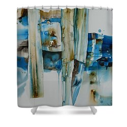 Shuffling Memories Shower Curtain by Donna Acheson-Juillet