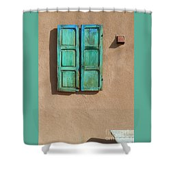 Shutter And Bench Shower Curtain
