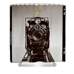 Shutterbug Mantis Shower Curtain