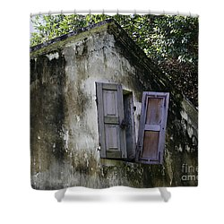 Shower Curtain featuring the photograph Shuttered #3 by PJ Boylan