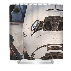 Shuttle Close Up Shower Curtain by David Collins