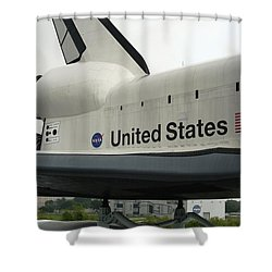 Shuttle Shower Curtain by David S Reynolds