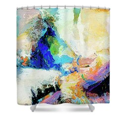Shower Curtain featuring the painting Shuttle by Dominic Piperata