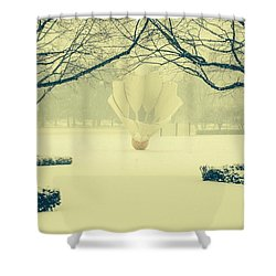 Shuttlecock In The Snow Shower Curtain