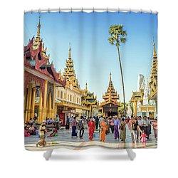 Shwedagon Pagoda Shower Curtain