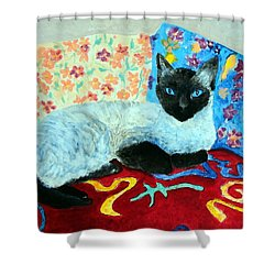 Siamese Cat Shower Curtain