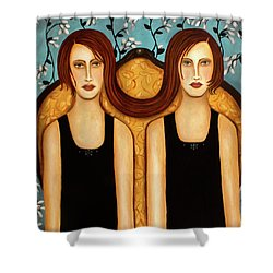 Siamese Twins Shower Curtain by Leah Saulnier The Painting Maniac