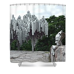 Sibelius Monument Shower Curtain