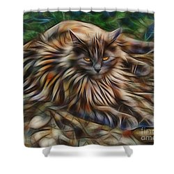 Siberian Attitude Shower Curtain