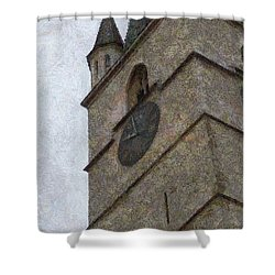 Sibiu Clock Tower Shower Curtain by Jeffrey Kolker