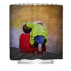 Sibling Love Shower Curtain by Brian Wallace