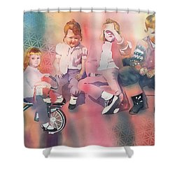 Siblings And Cousins, Circa 1950-1963 Shower Curtain