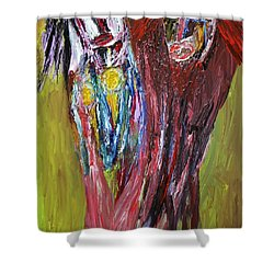 Siblings   Shower Curtain by Darrell Black