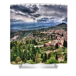 Sicilian Coast Shower Curtain