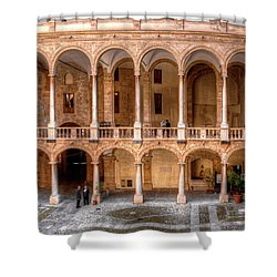 Sicilian Parliament Bldg Shower Curtain