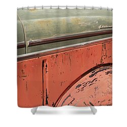 Side By Side Vintage Cars Shower Curtain