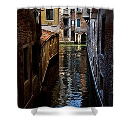 Side Canal Shower Curtain by Harry Spitz