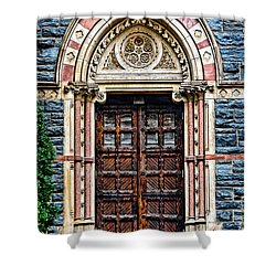 Side Entrance Shower Curtain by Christopher Holmes