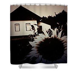 Side Of The Sun Shower Curtain by Empty Wall