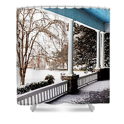 Side Porch Shower Curtain