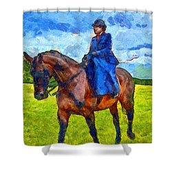 Shower Curtain featuring the photograph Side Saddle by Scott Carruthers