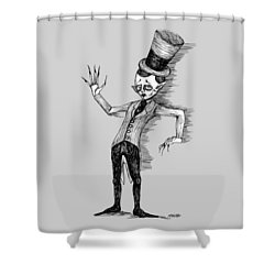 Side Show Performer Shower Curtain by Akiko Okabe