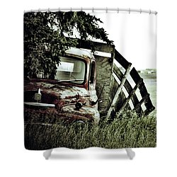 Side Stop Shower Curtain by Jerry Cordeiro