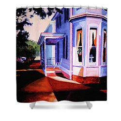 Side Street - Lambertville Shower Curtain