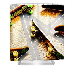 Side Streets Of Skate Shower Curtain