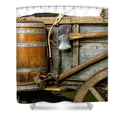 Side View Of A Covered Wagon Shower Curtain