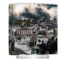 Sideshow Alley Shower Curtain