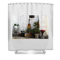 Shower Curtain featuring the photograph Sidewalk Collage #2 by PJ Boylan